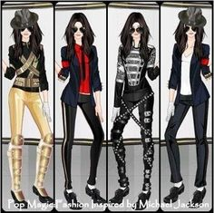 Female version of MJs outfits how cute!!!