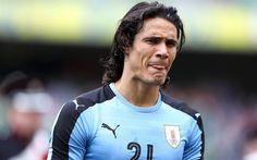 Download wallpapers Edinson Cavani, 4k, portrait, Uruguay, football, Uruguayan footballer