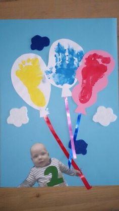 Afbeeldingsresultaat voor knutselen baby 1 jaar opa en oma