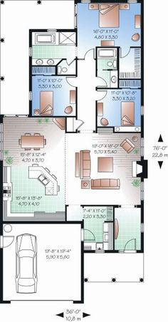 The floor plan features covered front porch, open floor plan, covered rear porch, family room/keeping room, nook/breakfast area/dining, walk-in closet, suited for corner lot, suited for narrow lot, peninsula/eating bar, storage area, main floor master bed & bath, main floor bed & bath.