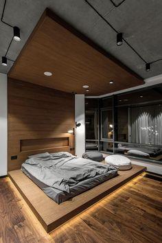 Inspiring Bedroom 👍 By Taras Kaminsky Home In 2019 Loft is part of Loft interior design - Modern Luxury Bedroom, Luxury Bedroom Design, Room Design Bedroom, Bedroom Furniture Design, Home Room Design, Dream Home Design, Luxurious Bedrooms, Modern House Design, Bedroom Designs