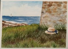 Watercolor... Somewhere by the sea...