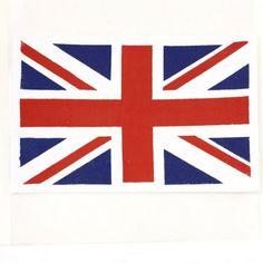 Sticker textile coussin drapeau anglais - Coussins déco : Izaneo.com