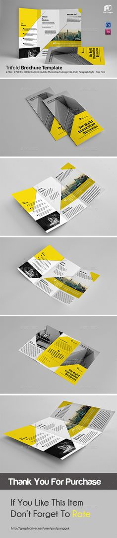 Business Trifold Brochure Template InDesign INDD. Download here: http://graphicriver.net/item/business-trifold-vol7/15321396?ref=ksioks