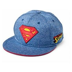 b9fd5e5feecee Boys  Superman Flat Brim Baseball Hat - Blue Red. Maryury Canales · Gorra · New  Era Superman Viza Fill Flatbill Hat Gorras De ...