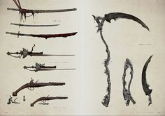 Bloodborne Concept Art - Weapon Concept Art