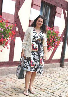 in Nuremberg, Germany  -  dress OVS, bag Guess, sandals Bata
