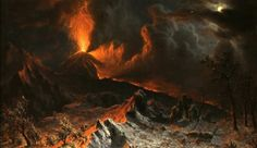 Mount Vesuvius at Midnight, Albert Bierstadt , Cleveland Museum of Art: American Painting and Sculpture For centuries, artists and tourists were attracted to Mount Vesuvius, a volcano near. Albert Bierstadt, Gabriel, Jules Cheret, Joseph, Roman City, Prince, Italy Painting, Jaime Lannister, Cleveland Museum Of Art