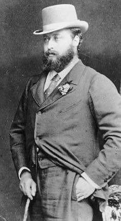 King Edward VII when he was Prince of Wales. He is great grandfather of HM Queen Elizabeth II and is eponymous with the Edwardian Age.