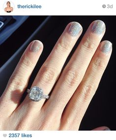 Perfection. Ricki Lee's engagement ring.
