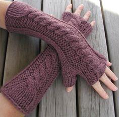 Fingerless Gloves Knitting Pattern PDF Hand Arm Warmers. £2.50, via Etsy.
