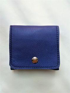 Monedero para Hombre Azul Marino, Cartera de Piel color Azul Marino, Cartera de Piel Azul Marino Masculina de JYNzapateros en Etsy