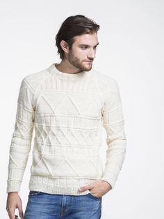 Mens Pattern Stitch Pullover Novita 7 Veljestä (7 Brothers) | Novitaknits