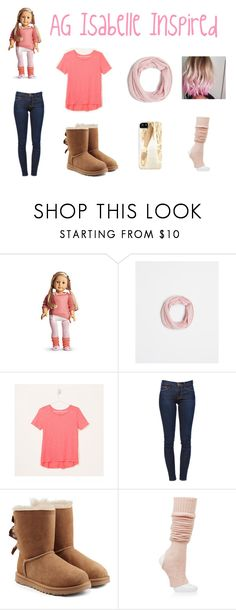 """""""AG Isabelle Inspired"""" by ag-inspired ❤ liked on Polyvore featuring Mix & Match, Ann Taylor, LOFT, Frame Denim, UGG Australia and Ballet Beautiful"""