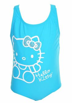 Sanrio Hello Kitty Little Girls Swimsuit OnePiece Bathing Suit Pink Blue Jeweled #Sanrio #OnePiece