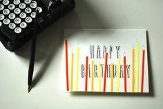 Birthday Card - Sunny Candles