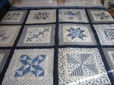 Challenging Arts & Crafts: Blue & White Sampler Quilt