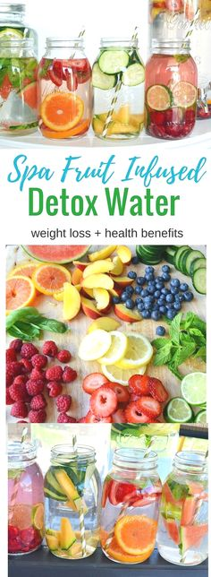 Spa Fruit Infused Detox Water aids in weight loss and has numerous health benefits plus it makes your water taste refreshing and delicious! Spa Fruit Infused Detox Water aids in weight loss and has numerous health benefi… Healthy Detox, Healthy Drinks, Healthy Recipes, Locarb Recipes, Bariatric Recipes, Quick Recipes, Diabetic Recipes, Beef Recipes, Healthy Water