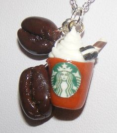 Fabulous New Handmade Polymer Clay Starbucks Charm by Sweetystuff, £14.99