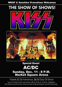 """KISS ALIVE II Tour """"Market Square Arena"""" Show Of Shows Stand-Up Display"""