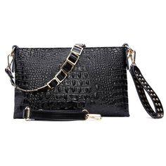 59eb49fc685faa Black Genuine cow Leather Clutch bag