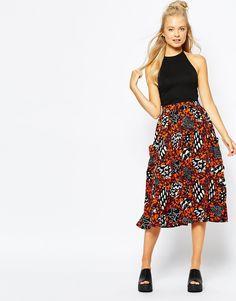 Monki+Midi+Skirt+With+Pocket+Detail