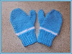 It's getting to that time of year again ~ when little fingers need mittens to keep them cosy. These are so very simple. Knitted on 2 needles.And perfect for boys or girls. toddler's mittens - age 2-3