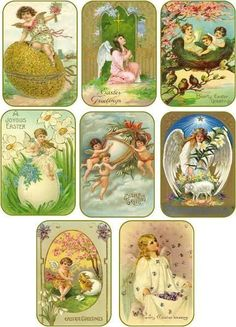 Vintage easter tags item 12 hanggift tags scrapbook vintage easter tags vintage easter 8 angel antique pictures tags scrapbooking crafts negle Images