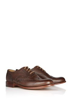 Grenson 'William' chocolate brogues