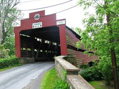 """The Red Bridge over the Tulpehocken Creek (or """"crick"""" as us Dutch locals say!) Berks County, Pa."""