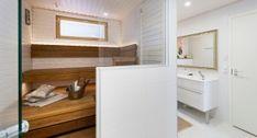 Sauna- ja pesutilat, kodinhoitohuoneet ja wc:t - Dekotalo   Talopaketit ja valmistalot avaimet käteen! Loft, House, Furniture, Home Decor, Deco, Decoration Home, Home, Room Decor, Lofts
