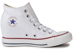 d945aca62c2a Chaussures Converse CHUCK TAYLOR ALL-STAR COMPENSÉE BLANCHE vue dessous  Converse Chuck Taylor All Star