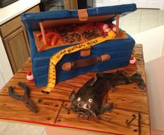 Tackle box cake with catfish. This was a fun cake to work on :)