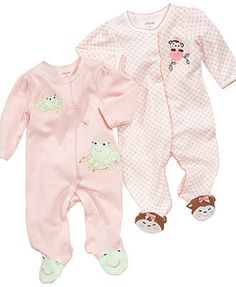 Little Me Baby Coverall, Baby Girls Coverall with Animal Footies...CUTE!!!