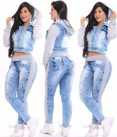 jaqueta jeans moletom casaco capuz agasalho feminina Swag Outfits, Chic Outfits, Trendy Outfits, Lace Jeans, Sexy Jeans, Remake Clothes, Diy Clothing, Denim Fashion, Classy Fashion