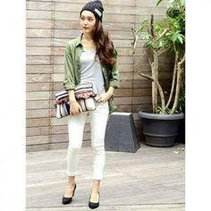 White Jeans, Pants, Style, Fashion, Trouser Pants, Moda, La Mode, Women's Pants, Fasion