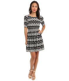 Yumi Aztec Sheer Waist Dress Black - 6pm.com