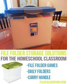 Storing File Folder Games the Easy Way!