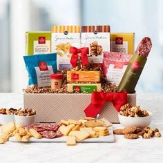 Hickory Farms Gift Baskets - Hickory Farms Gourmet Gift Box Gourmet Gift Baskets, Gourmet Gifts, Thanksgiving Gifts, Holiday Gifts, Hickory Farms, Flower Factory, Farm Holidays, Gourmet Cookies, Summer Sausage