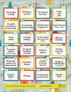 Calendrier de l'avent des bons moments (free printable) - Milk and FabricMilk and Fabric Advent Calenders, Challenge, Diy Weihnachten, Xmas Crafts, Positive Attitude, Kids Education, Holidays And Events, Kids And Parenting, Christmas Time