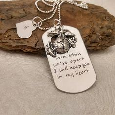 Hey, I found this really awesome Etsy listing at https://www.etsy.com/listing/118676499/deployment-necklace-military-sepration