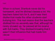 Sherlock headcanon. DEAL WITH IT!