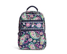 092bd7657 VERA BRADLEY Tech Backpack PETAL PAISLEY Large Bag Travel Carry On School  $108