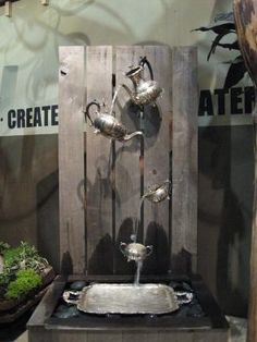 Recycled materials on display at Canada Blooms...