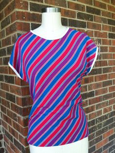Striped 70's Top by SallyMarieVintage on Etsy