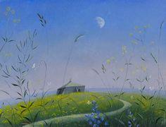 St.Aldhelm's Chapel - Summer Moon  by Nicholas Hely Hutchinson