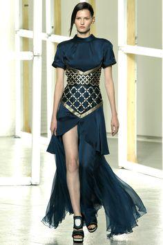 Love this Rodarte gown... It's so severe, yet feminine... Gorgeous! #NYFW