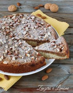 almond and amaretti cake - Single Layer Cakes, Romanian Food, Ricotta, Nutella, Bakery, Deserts, Food And Drink, Banana Bread, Sweets