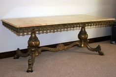 Marble top Coffee Table Brass Base Frame 550W x 1200L x 450H