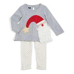 Toddler Girl Christmas Outfits, Baby Girl Christmas, Holiday Outfits, Polka Dot Leggings, Striped Leggings, Tunic Leggings, Sweater Design, Cool Baby Stuff, Kid Stuff